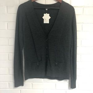 NWT Halogen Large Gray Merino Wool Cardigan